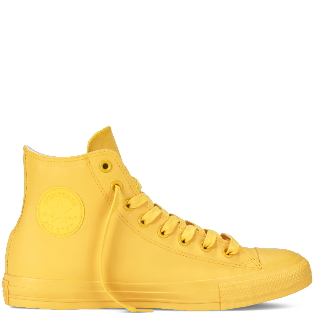 1744b8529d4 rubber chucks  super-cool converse high-tops that are water-resistant and  terry-lined