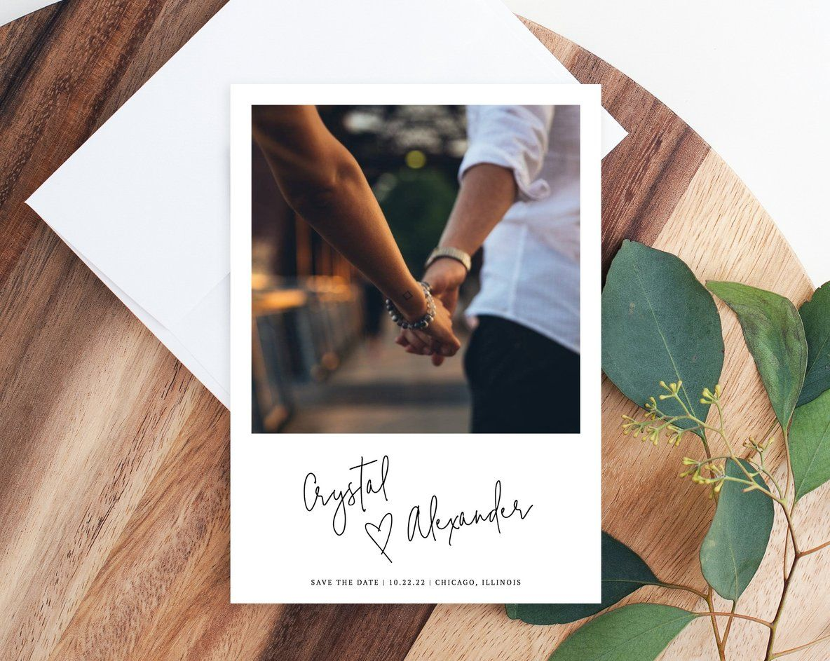 Photo Save our Date Cards for Wedding Save the Dates Card with Portrait Picture Printable OR Printed Photo Save the Date Cards