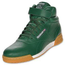 Men's Reebok Ex-O-Fit Mid Casual Shoes| Finish Line | Team Dark Green/White/Gum