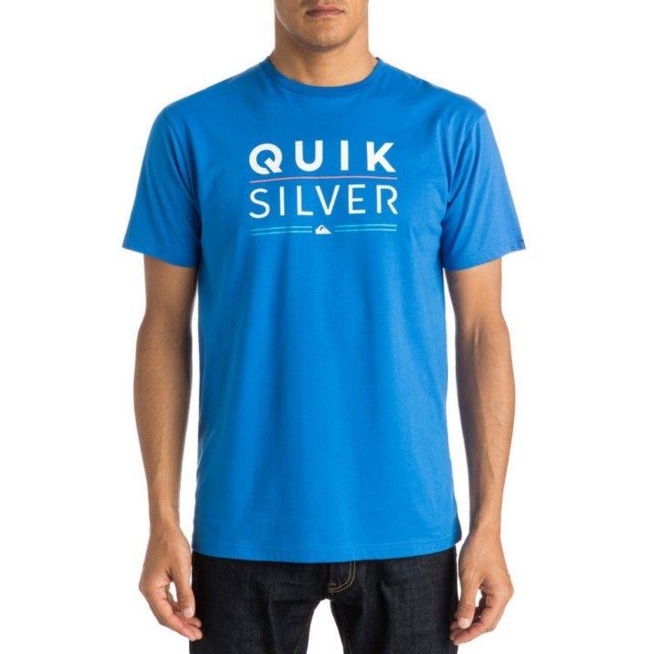 Camiseta Quiksilver Classic Tee para hombre. Color turquesa con estampado  frontal. Diseño en cuello redondo y manga corta. Composición  100% algodón. b593b93d4e8