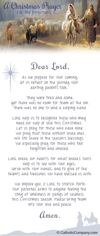 a christmas prayer for the forgotten