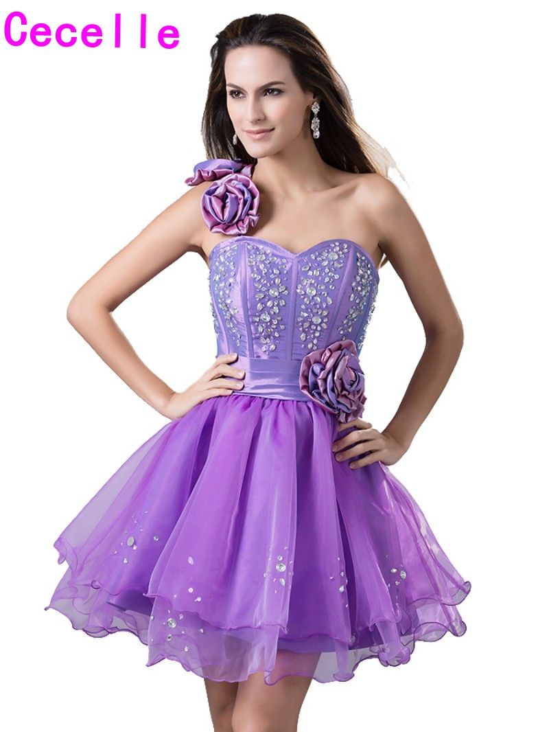 Click to Buy << Cute Purple Short Juniors Homecoming Dresses 2017 ...