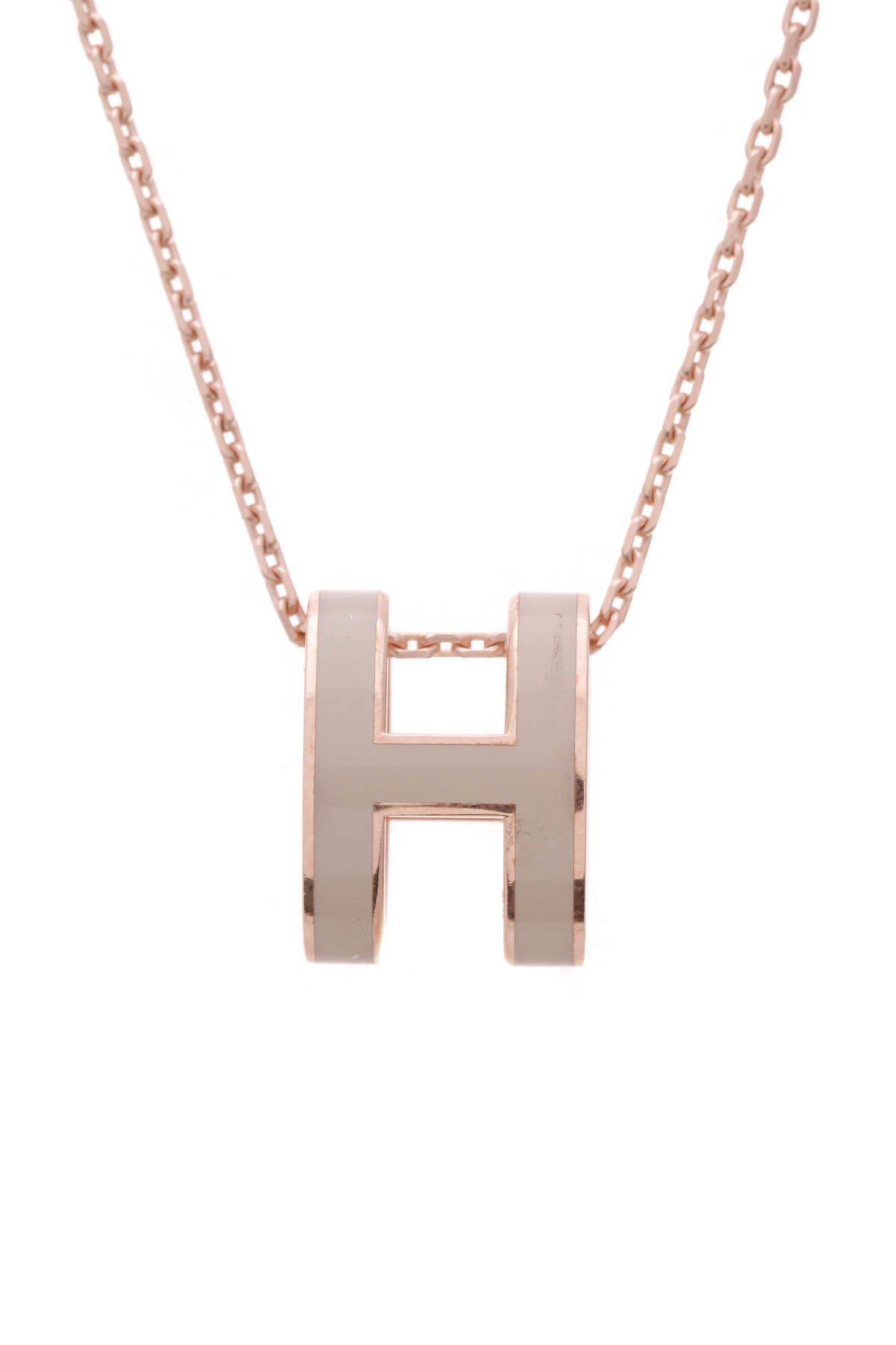 Pop H Necklace Marron Glace In 2019 Hermes Necklace