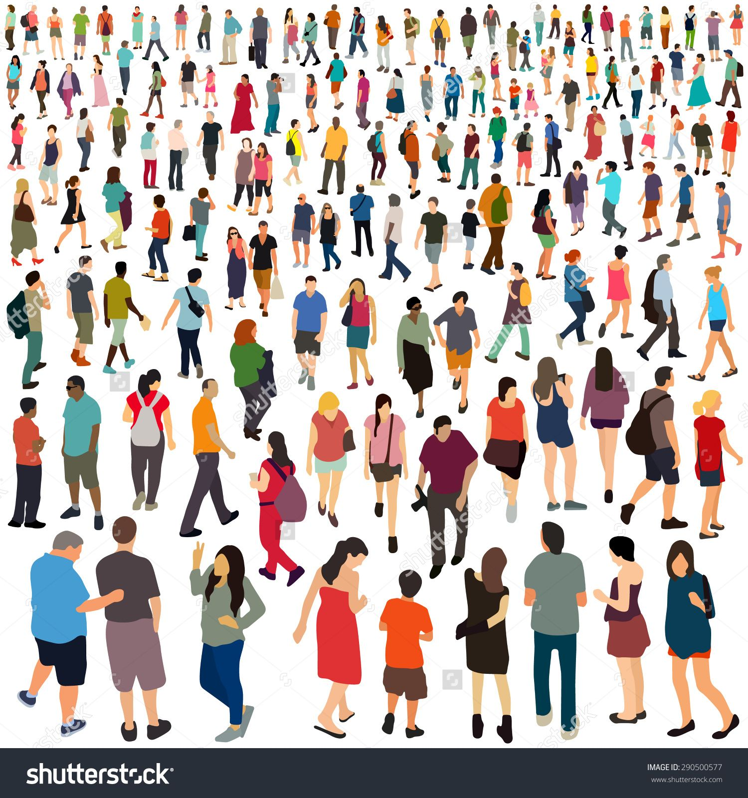 People. Vector illustration. | Desenhos de arquitetura ...