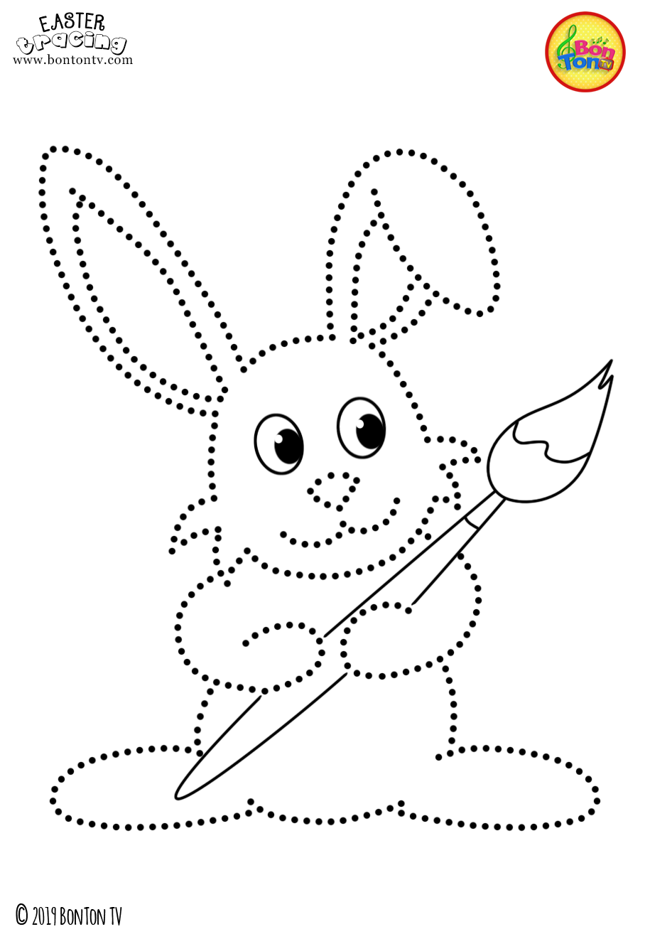 Easter Tracing and Coloring Pages for Kids - Free ...