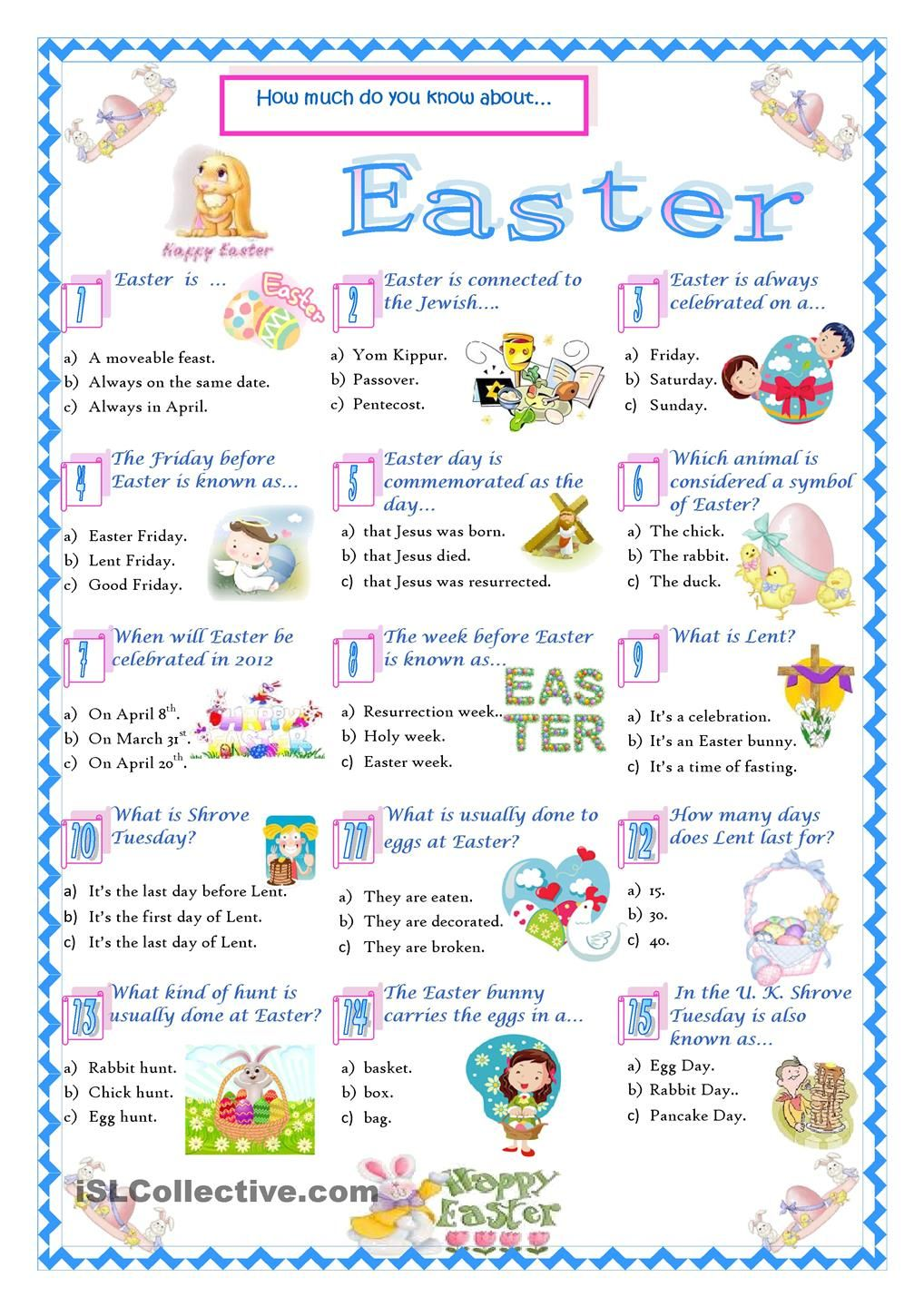 Bathroom Stall Quiz easter-quiz | english for kids | pinterest | easter quiz, easter