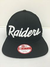 5a787f76604 New Era Oakland Raiders Script Logo NFL 9Fifty Snapback Custom hats Caps NWA