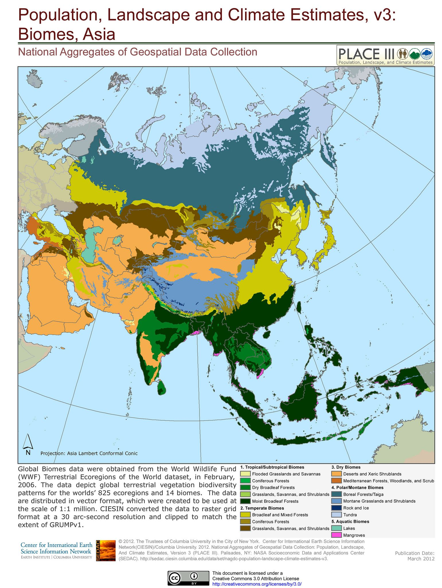 Biomes asia biomes asia the biomes of asia ciesin map gumiabroncs Images