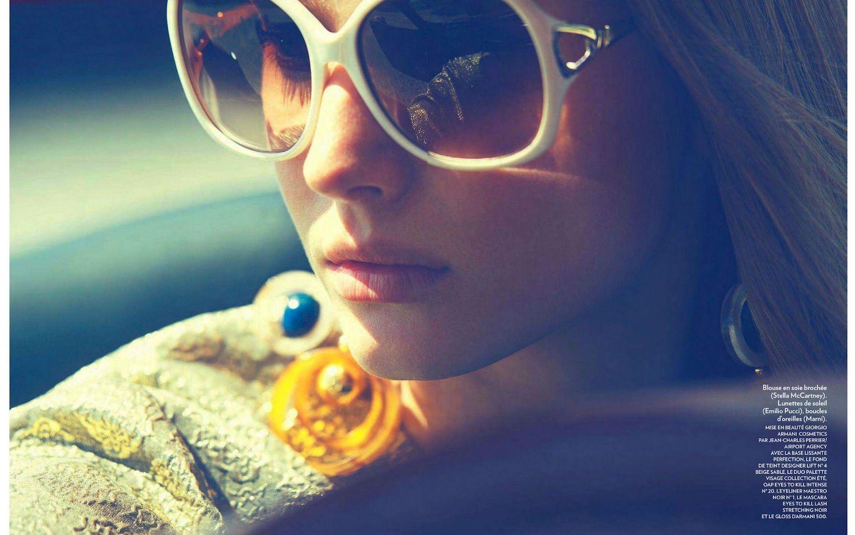 Óculos com armação colorida