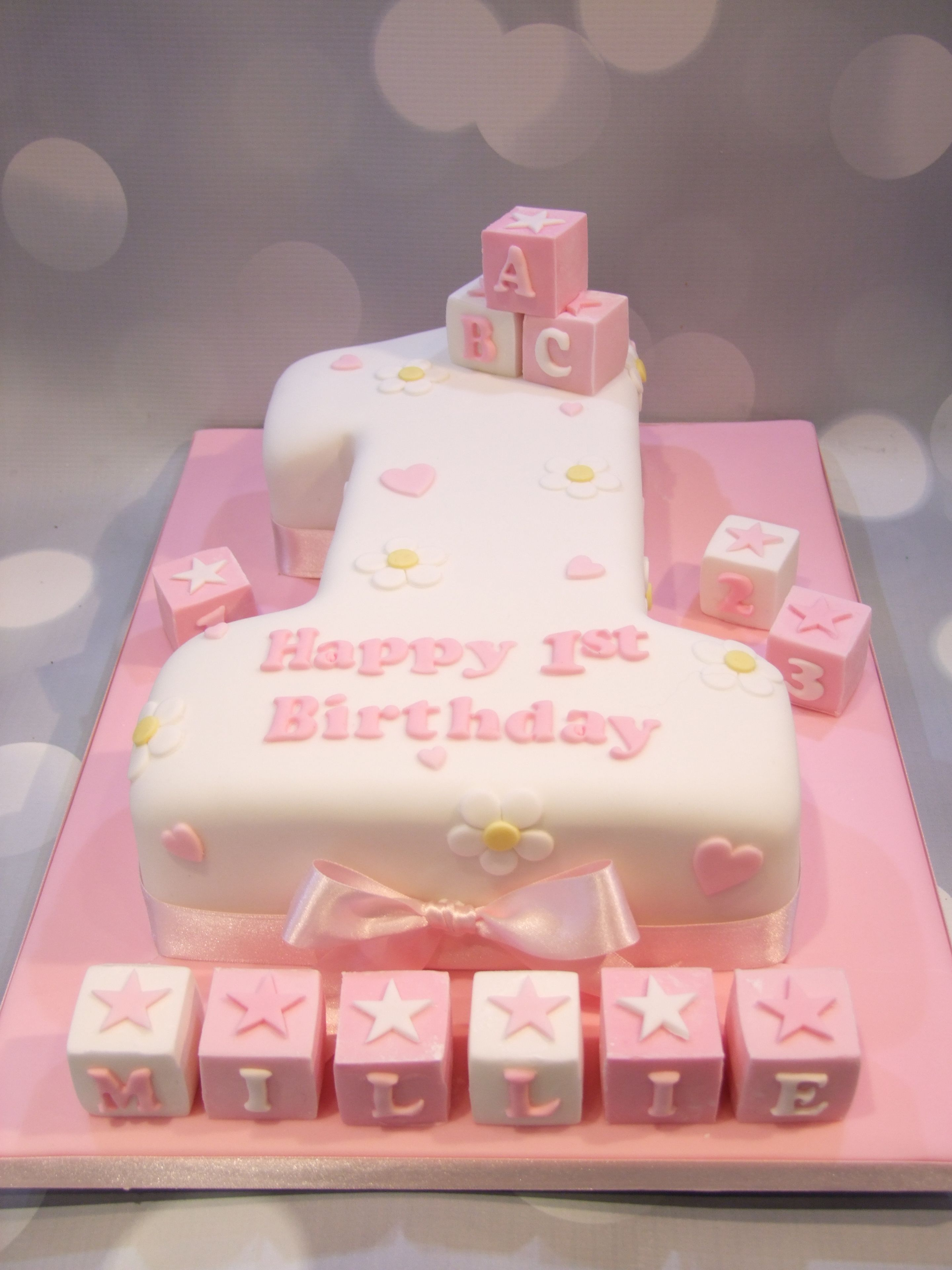 Magnificent No 1 Birthday Bricks Cake With Images 1St Birthday Cake For Personalised Birthday Cards Beptaeletsinfo