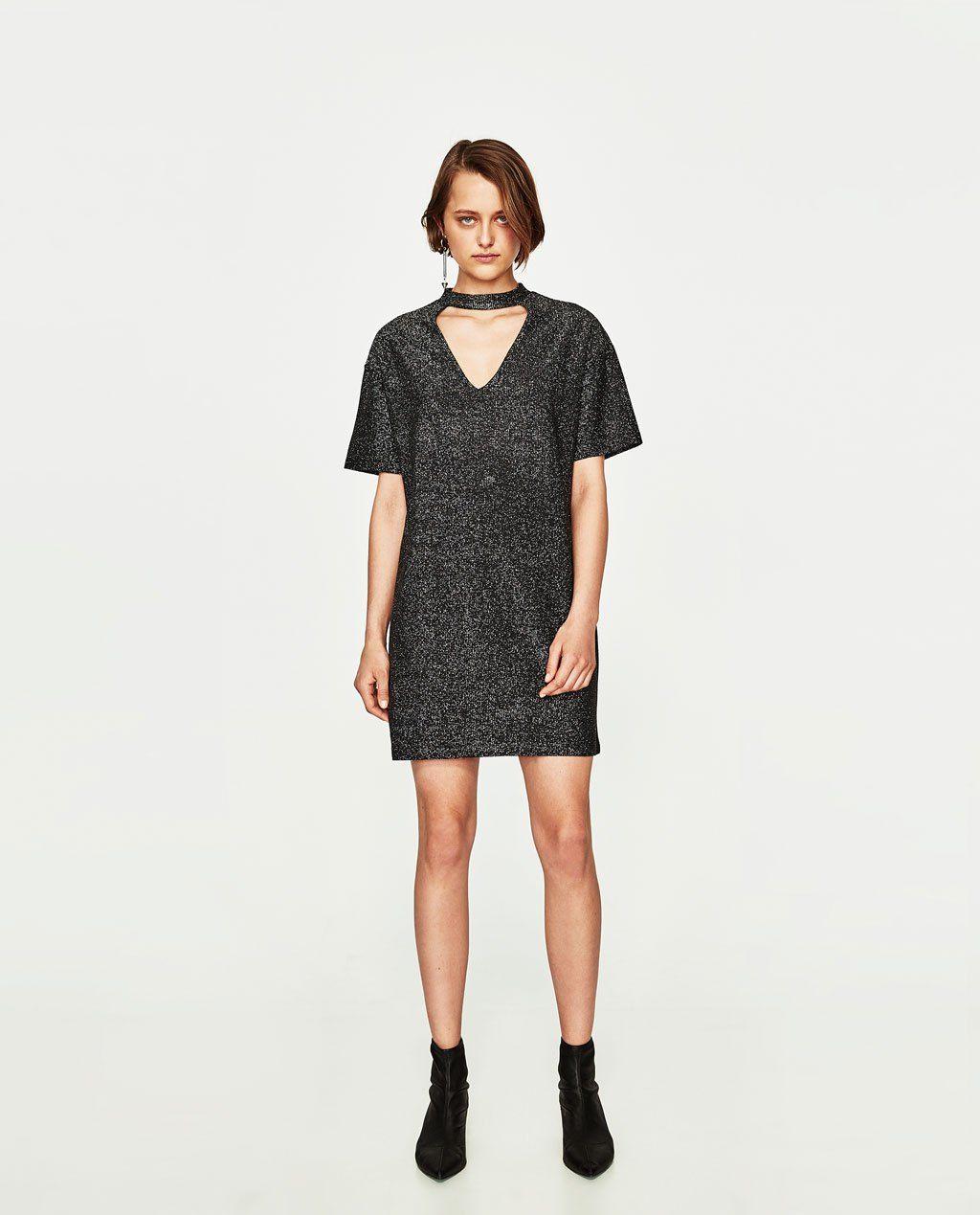 cbfef7b8b7e blog-de-mode-shopping-soldes-zara-robe-tour-de-cou-brillant