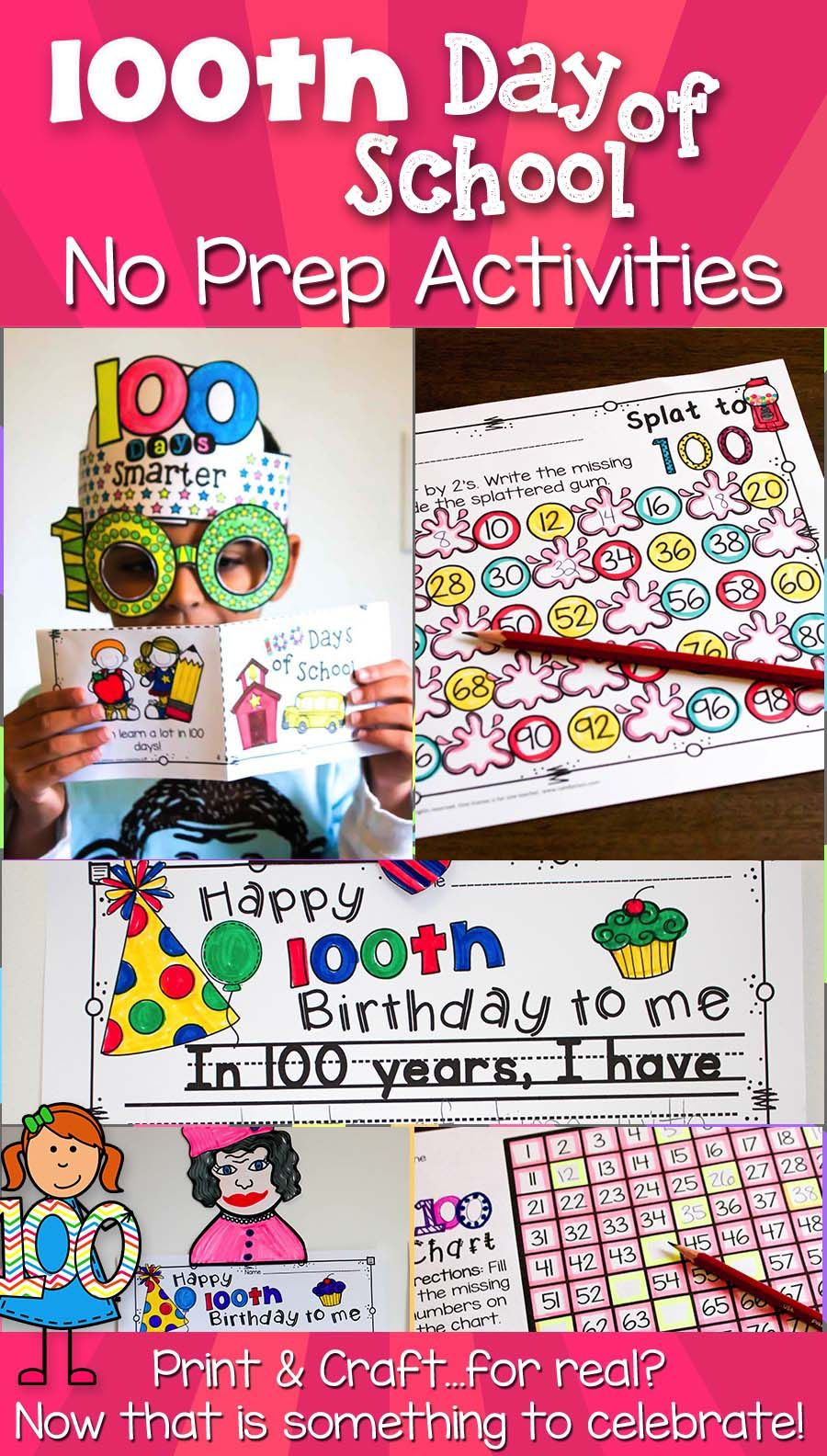 Celebrate the 20th Day of School with a Crown, Glasses, and Fun ...