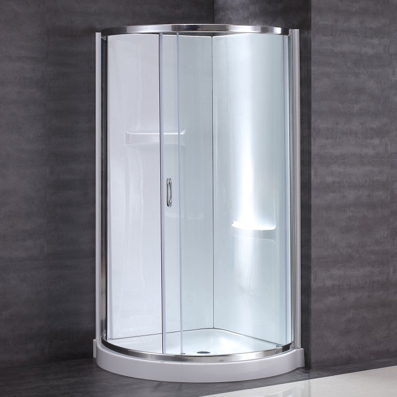 OVE Decors Breeze Shower Kit with Wall and Base - B14 GLASS SHOWER ...