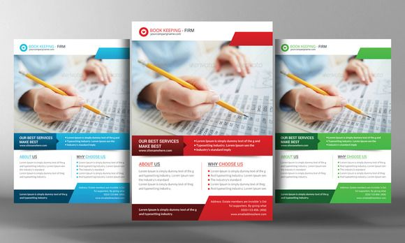Book Keeping Accounting Service Flye By Business Templates On