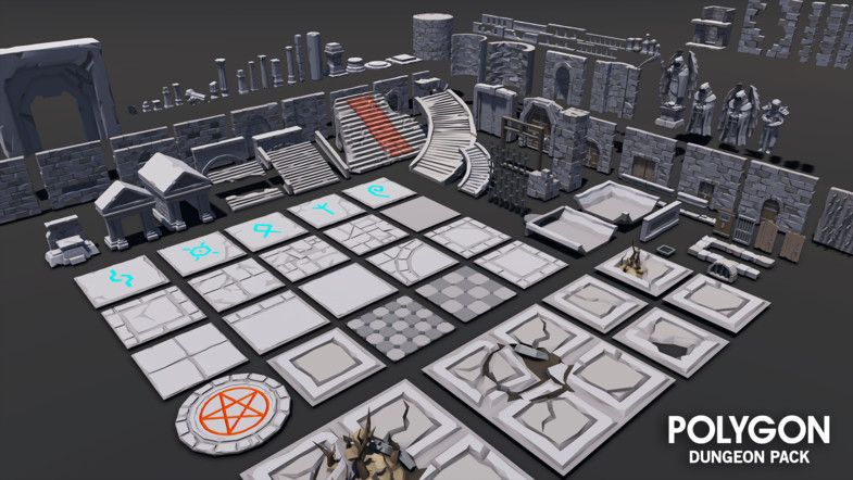 POLYGON - Dungeons Pack - Asset Store | Modular Design Kits