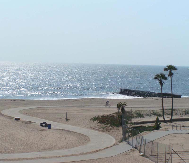 Los Angeles California Beaches Bike Trails At Dockweiler Beach Californiabeachcamping