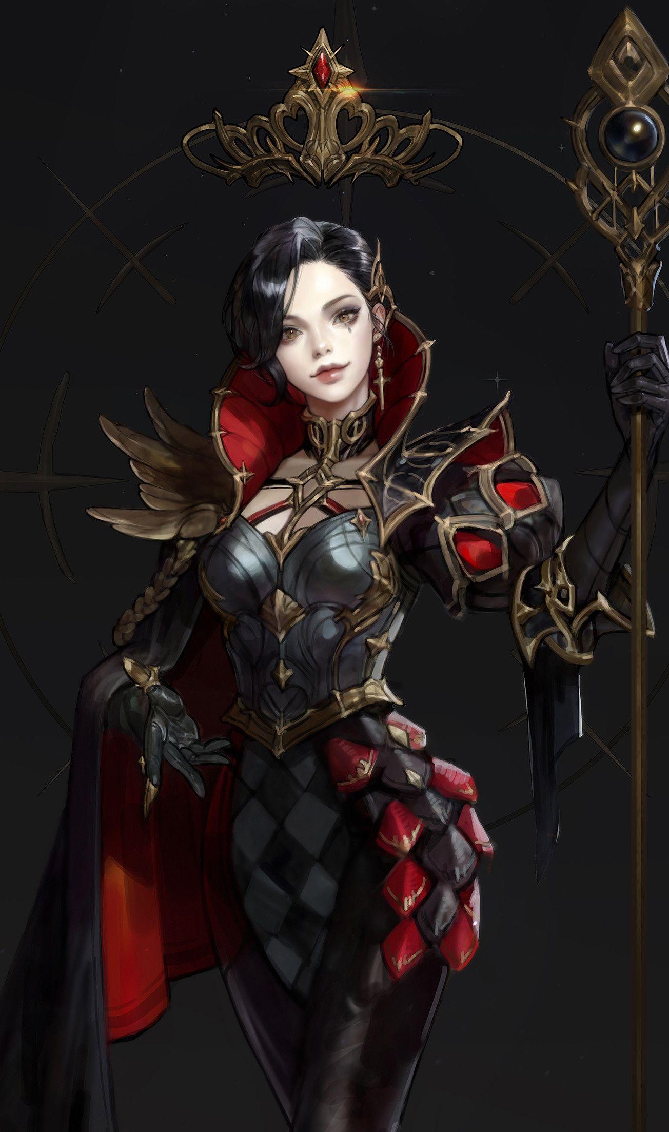 Artstation chess black queen monable character
