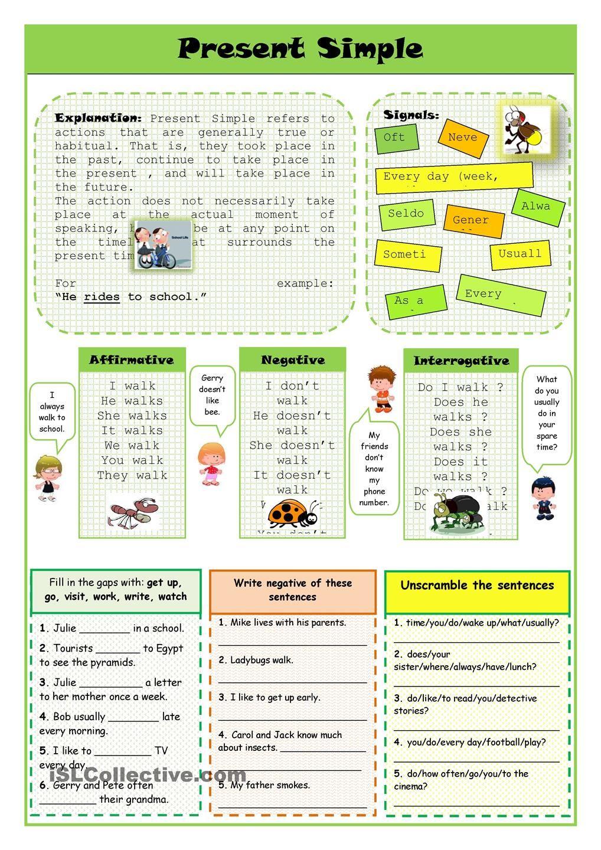 worksheet Present Simple Worksheets Esl present simple teaching pinterest english worksheets and worksheet free esl printable made by teachers