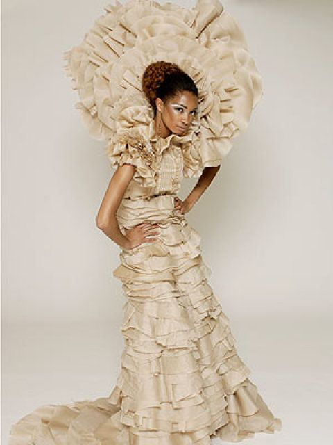 Avant-garde Gown by Chris March and Christian Siriano. I remember ...