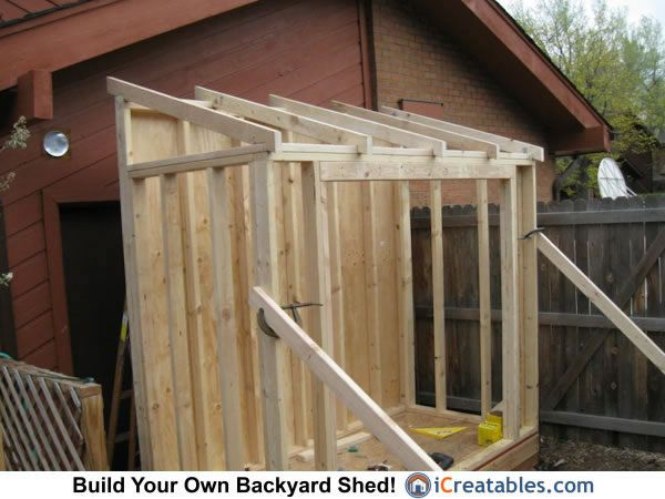 Lean To Shed Roof Framing Crafts Projects Lean To