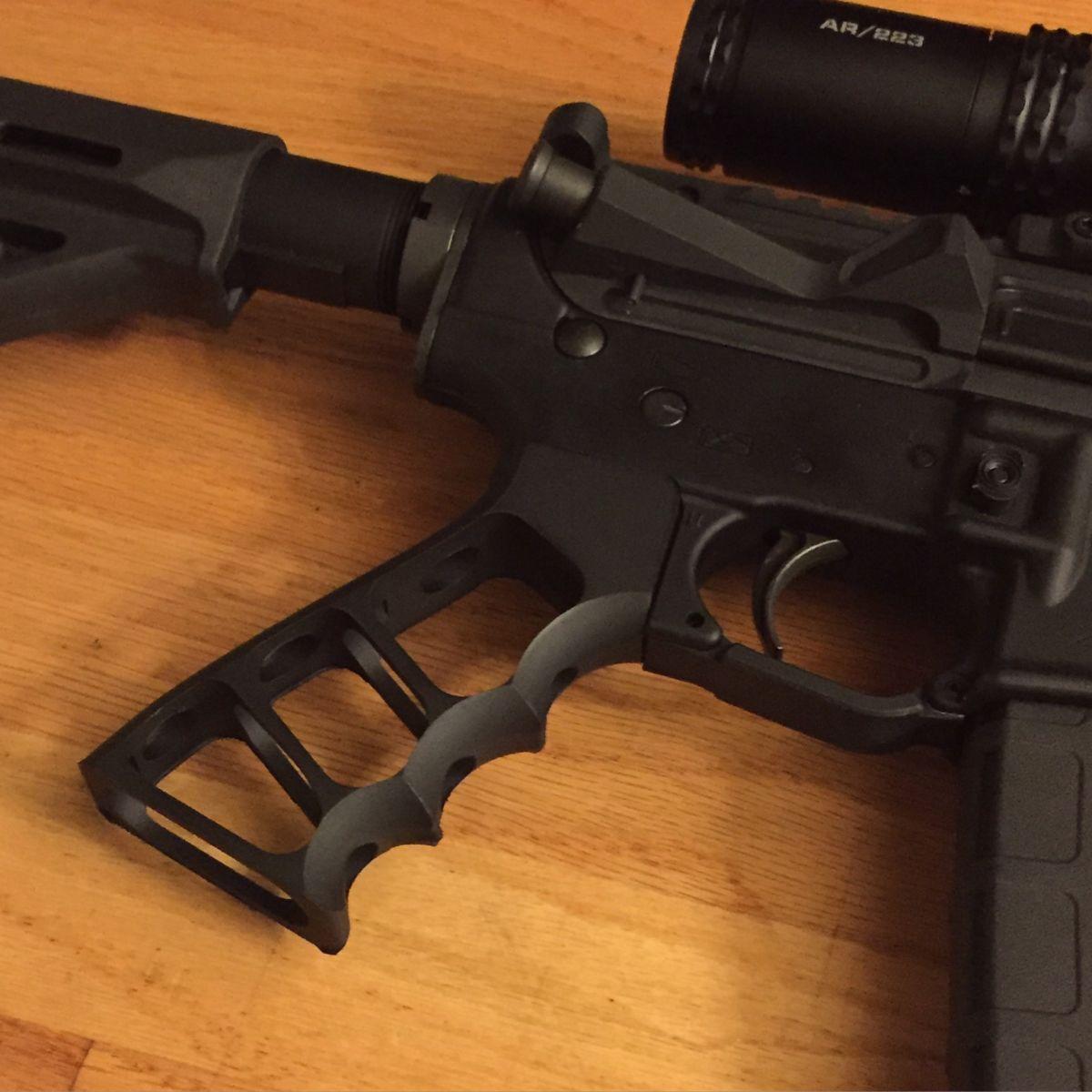 Skeletonized Grip Anodized Black   Assault rifle   Ar pistol