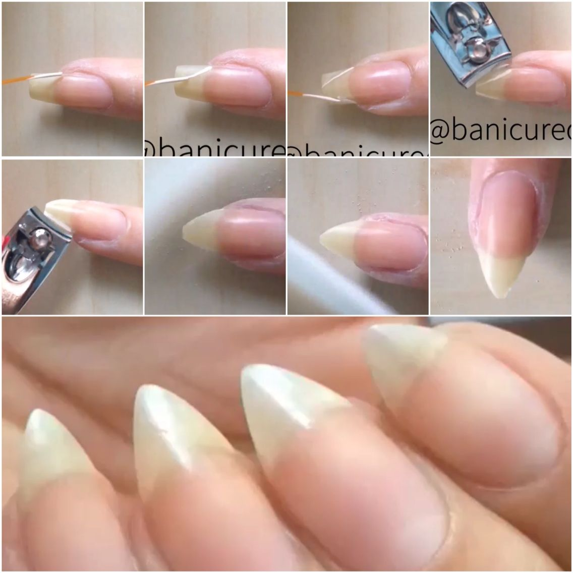 How to get Almond Shaped Nails | nails | Pinterest | Almond shape ...