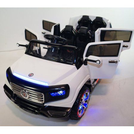 Big 2 Seats Kids 12v Suv Style Ride On Car With 4 Doors Music Lights Remote Toy Cars For Kids Toy Car Kids Ride On Toys