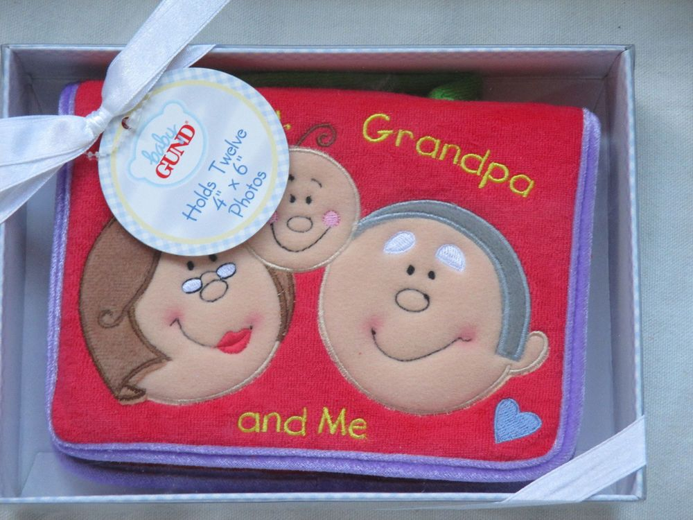 """Grandparents Gund Red """"Brag Book"""" photo album NIB (unisex) #Gund"""