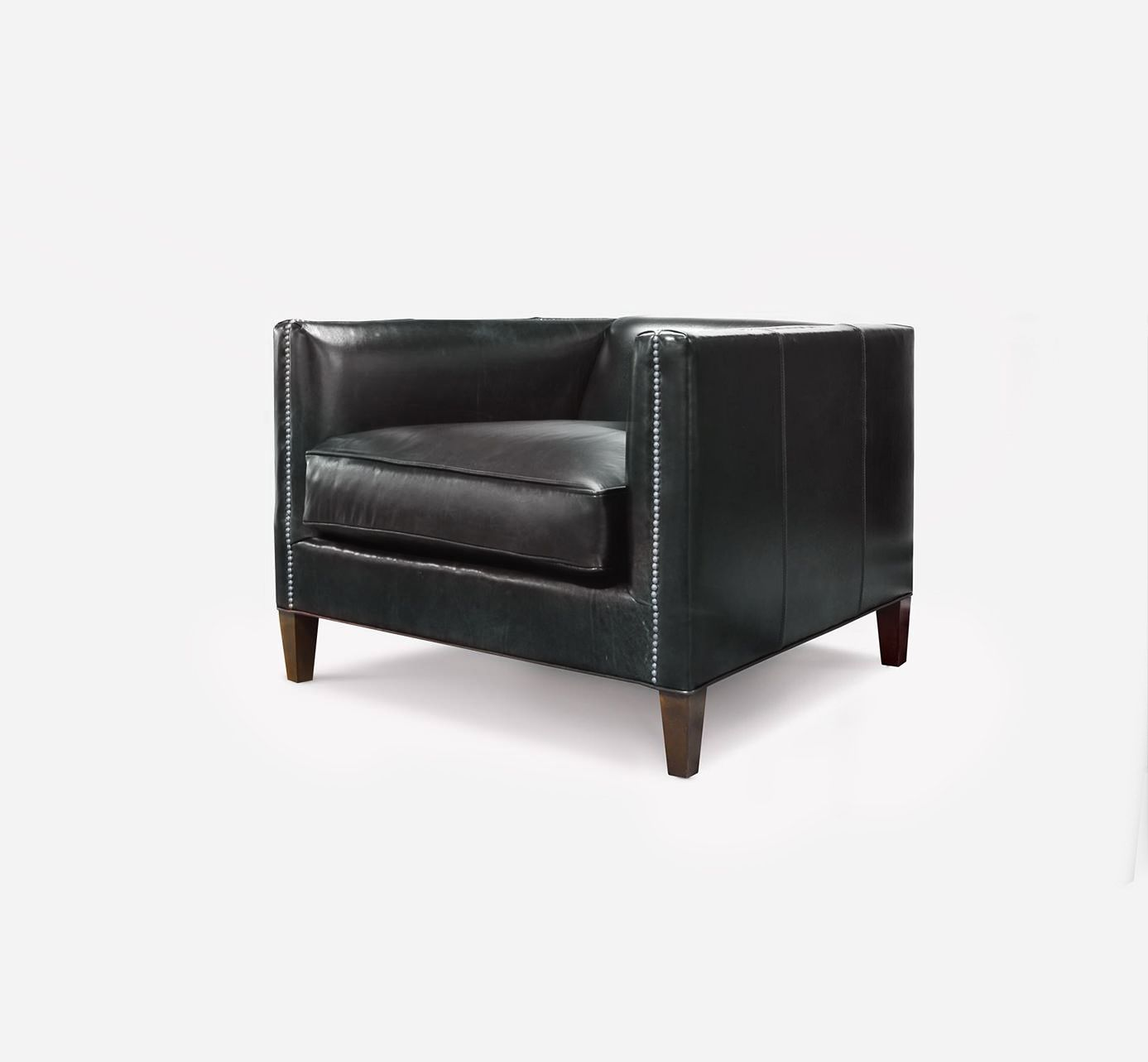 Black Leather Dylan Mid Century Armchair Handcrafted In North Carolina By Of Iron Oak Mid Century Armchair Tufted Sofa Furniture Inspiration