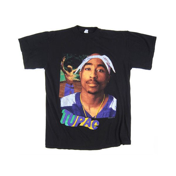 8fc7f042 Vintage Tupac Keep Ya Head Up T-Shirt ($150) found on Polyvore featuring  women's fashion, tops, t-shirts, shirts, tees, tee-shirt, destroyed t shirt,  ...