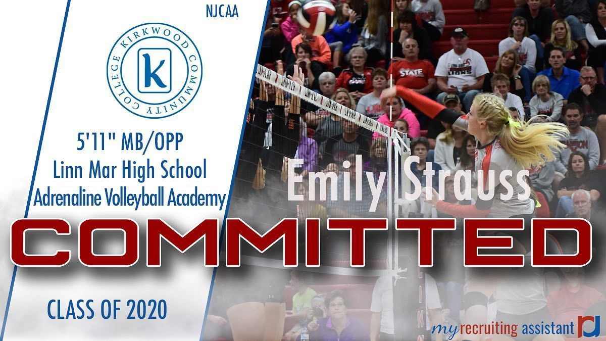 Congratulations To 2020 Mb Rs Emilyy Strauss On Her Commitment To Kirkwoodeaglesvolleyball In 2020 Linn High School Class Of 2020