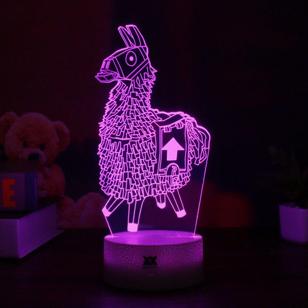 Fortnite game series 3d lamp llamaomegaraven night