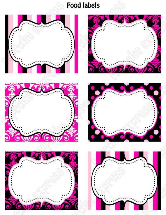 printable favor tags polka dot labels editable.html