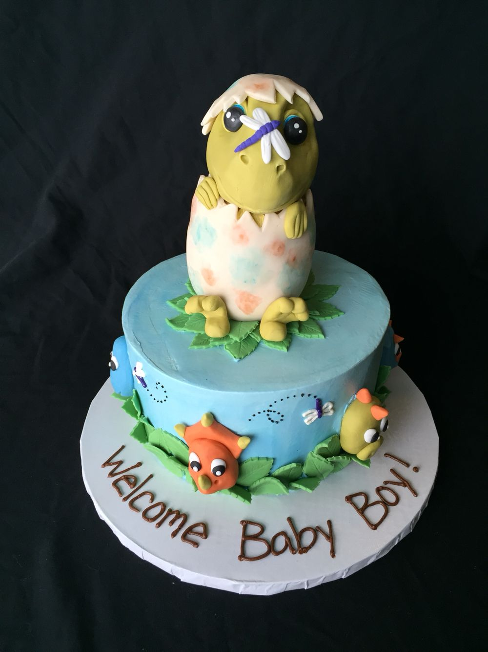Baby dinosaur in an egg Short North Piece of Cake Columbus Ohio