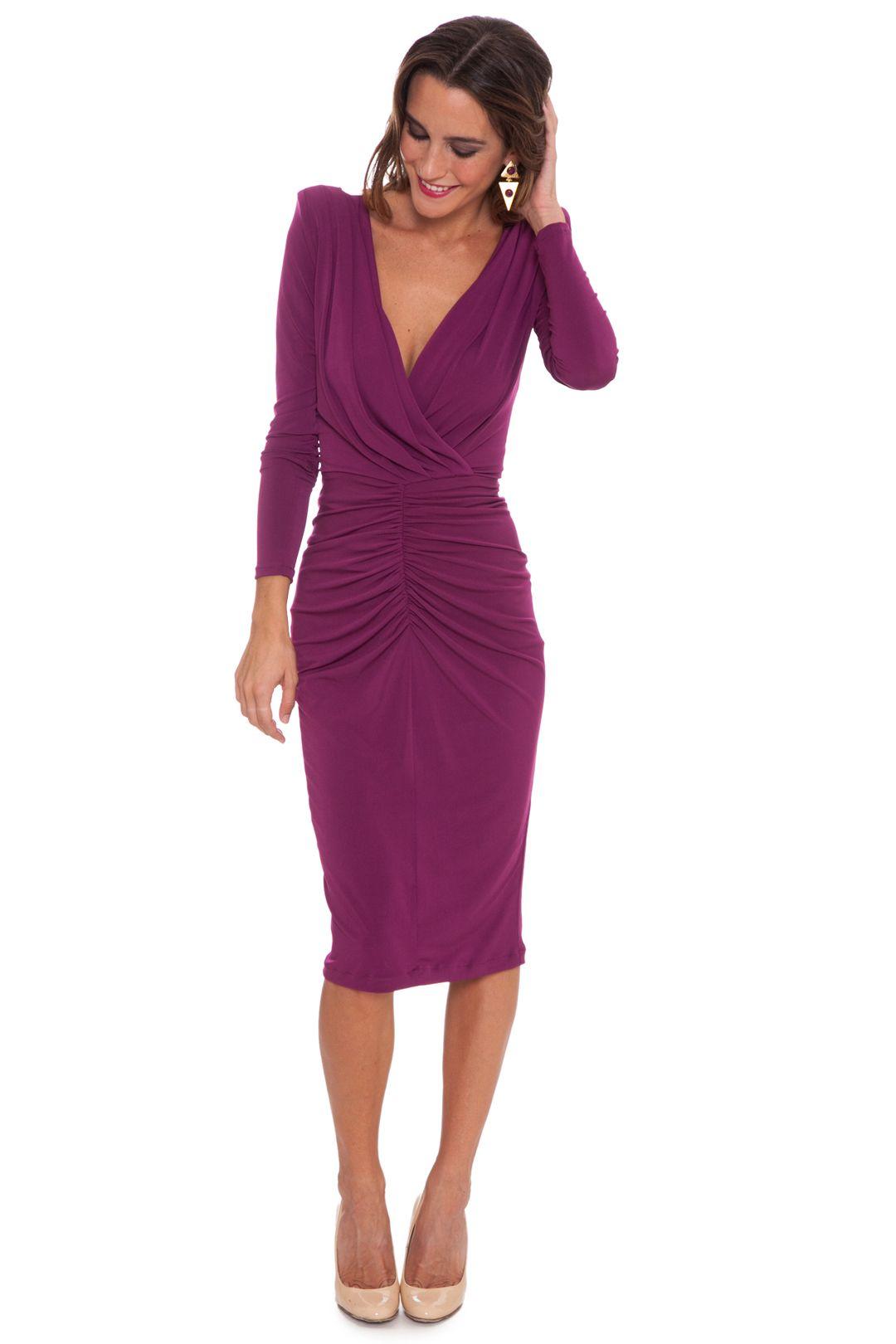 Vestido Eugenia Morado | vestido negro | Pinterest | Clothes, Pink ...