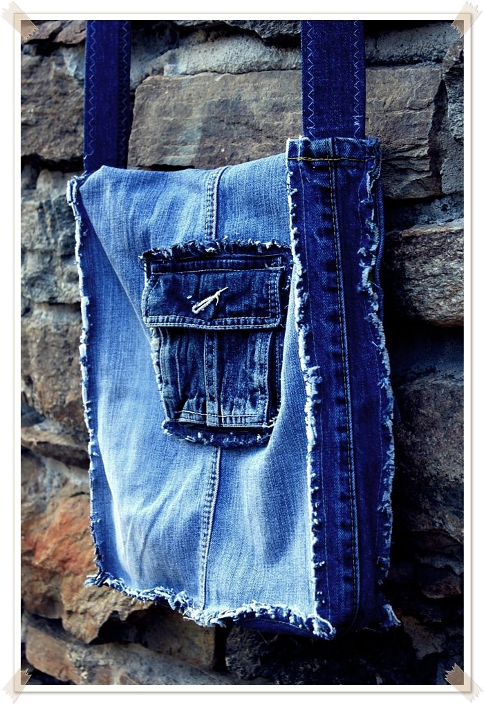 Jeanstasche Upcycling Rückseite | выкройка сумки | Pinterest ...