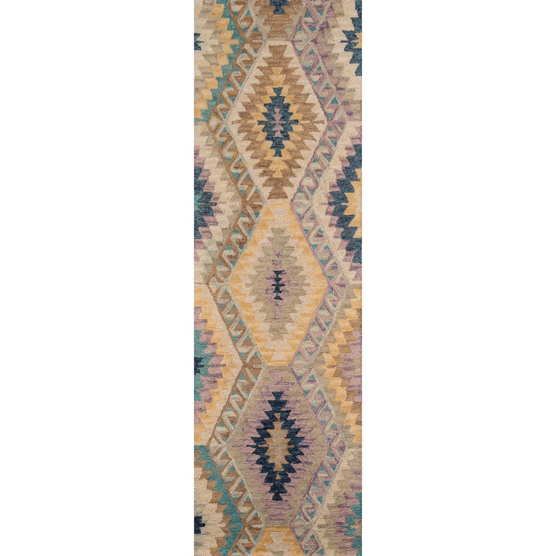 Momeni Tangier Multicolor Hand Tufted Wool Runner Rug 2 3 X 8