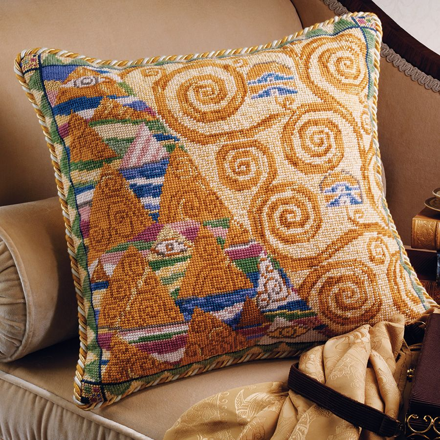 Klimt Yellow Ehrman Tapestry A Needle Point Kit Inspired By