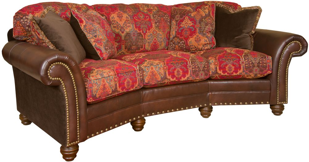 conversational+couch | King Hickory Katherine Katherine Leather ...