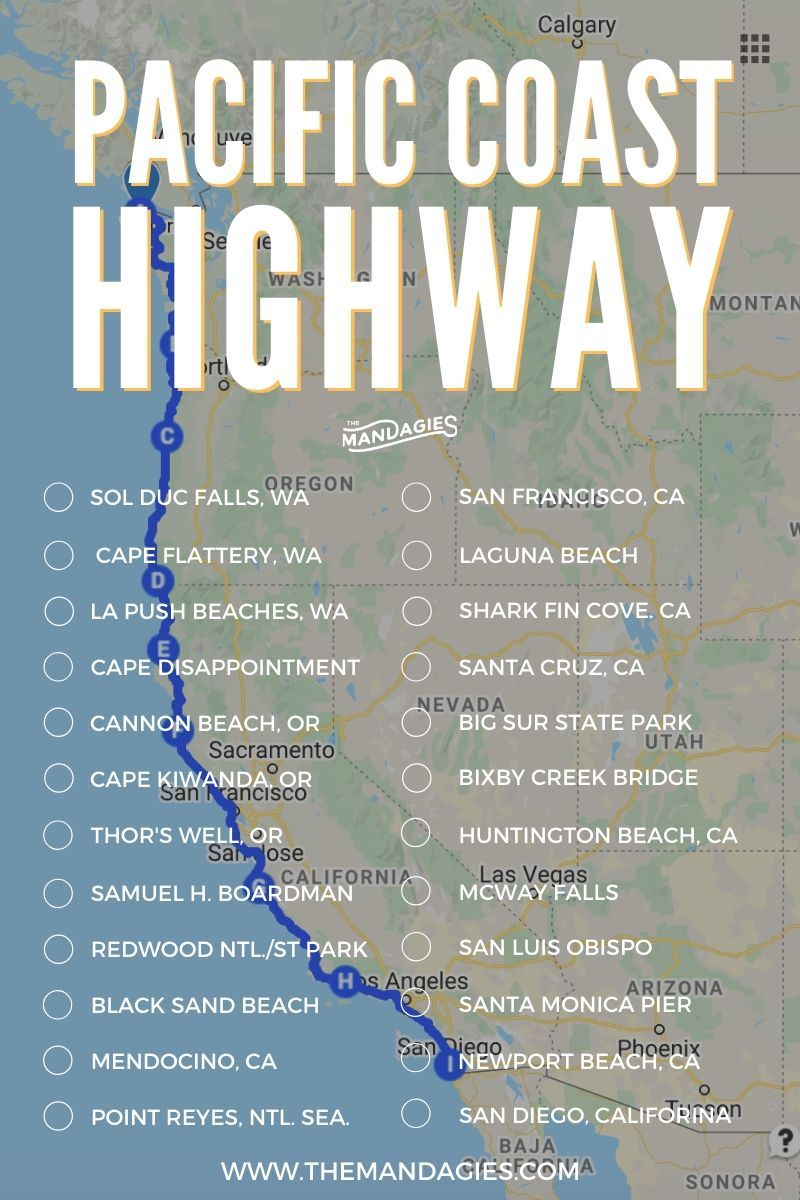 The Ultimate Pacific Coast Highway Bucket List (25+ Stops And Photo Locations)
