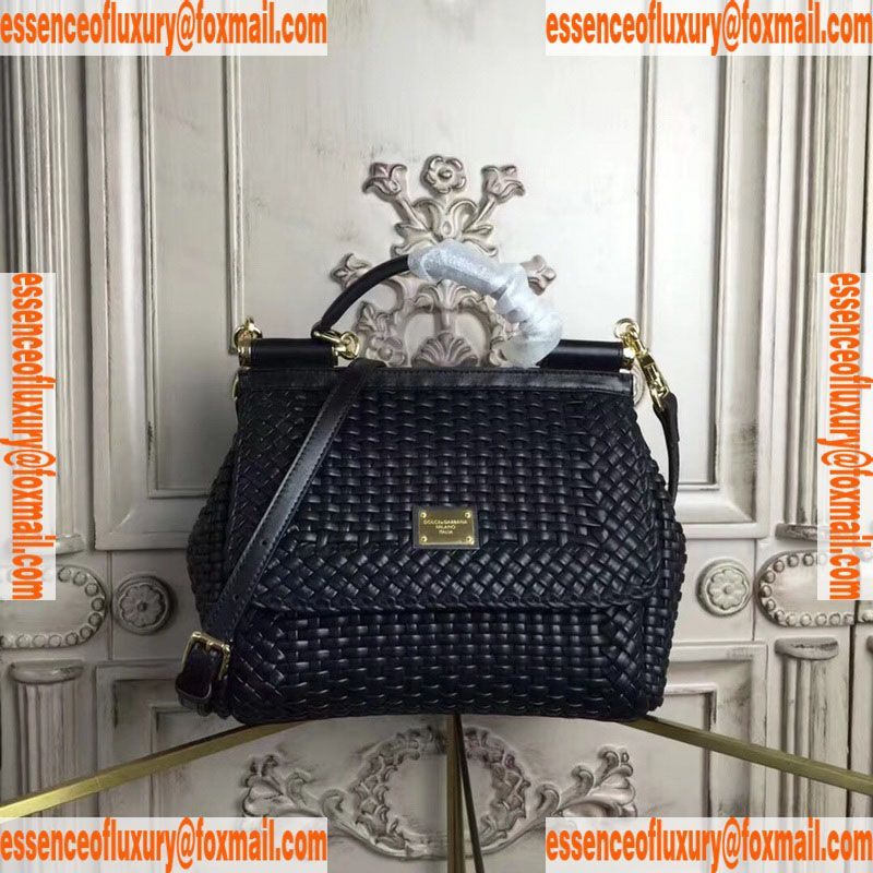 700fba206fbd Replica Womens Handbags Dolce Gabbana Leather Sicily Top Handle Bag DG  Knockoff Bags 4127 26x12x20CM A93PP850 AA77696