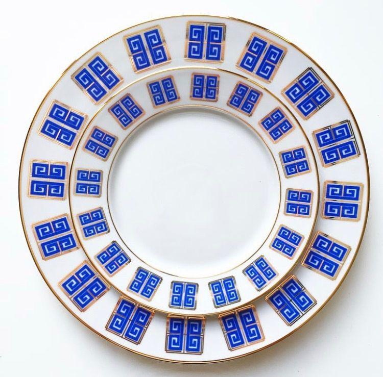 Greek Dinnerware in Aegean Blue by The Blush Label  sc 1 st  Pinterest & Greek Dinnerware in Aegean Blue by The Blush Label | Maryu0027s Decor ...