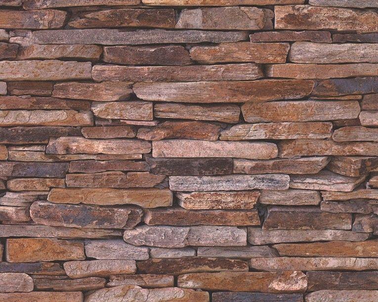 Mustertapete a s cr ation wood 39 n stone vinyl beige for As creation tapeten gunstig