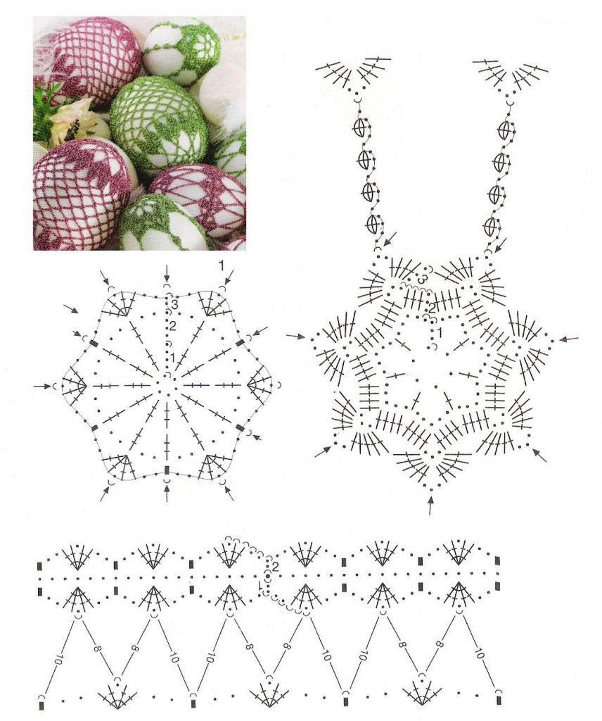 Crochet Lace Egg Chart - should be able to adapt this pattern to fit ...