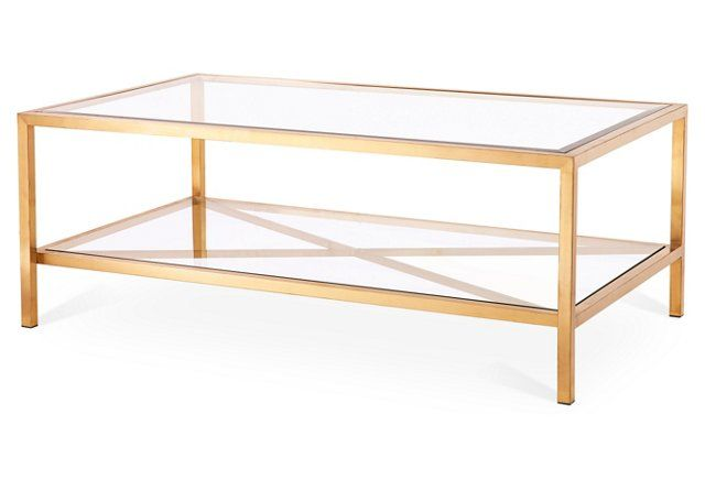 Gardner Coffee Table, Gold | For when I buy that house thing | Pinterest
