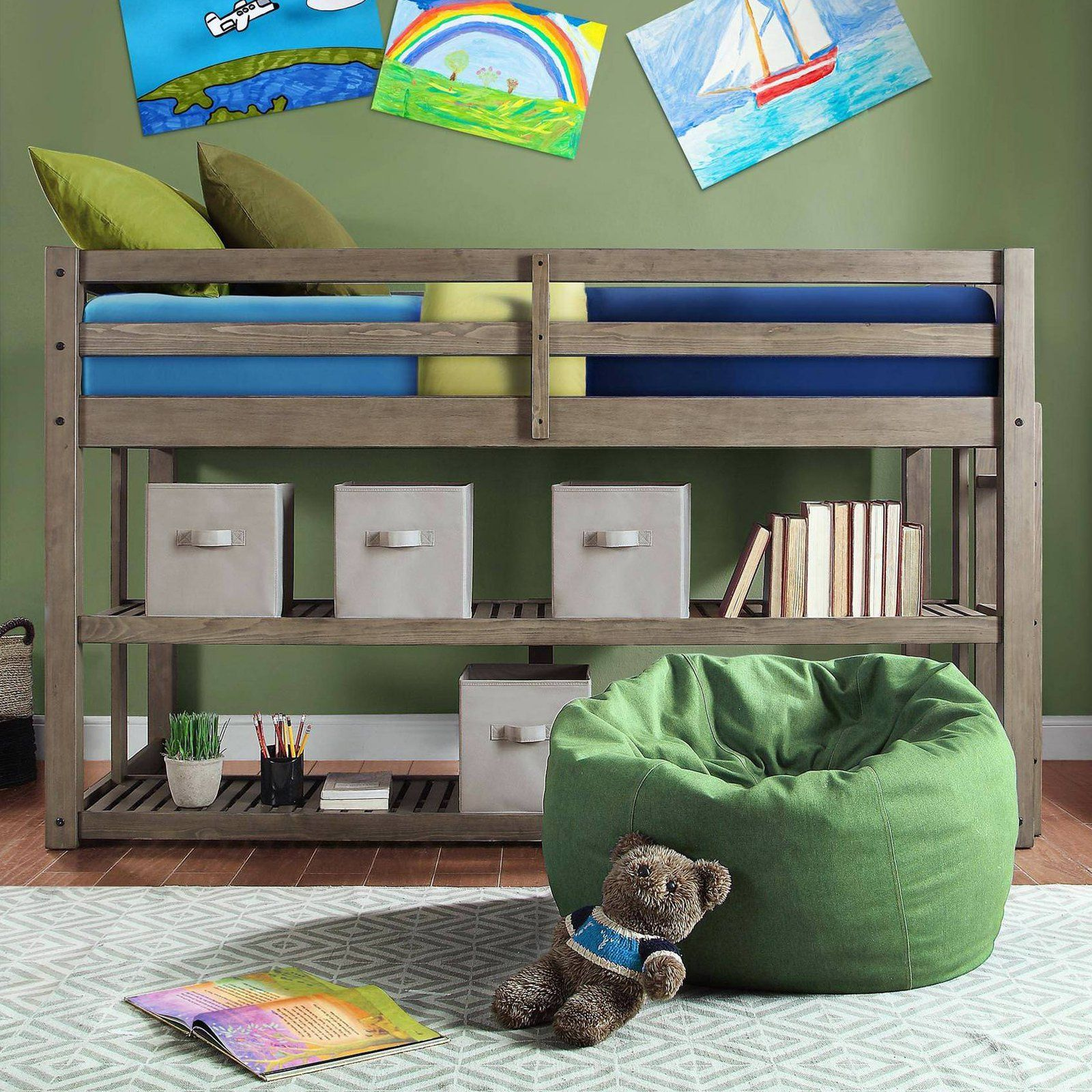 Better homes gardens loft bed with spacious storage