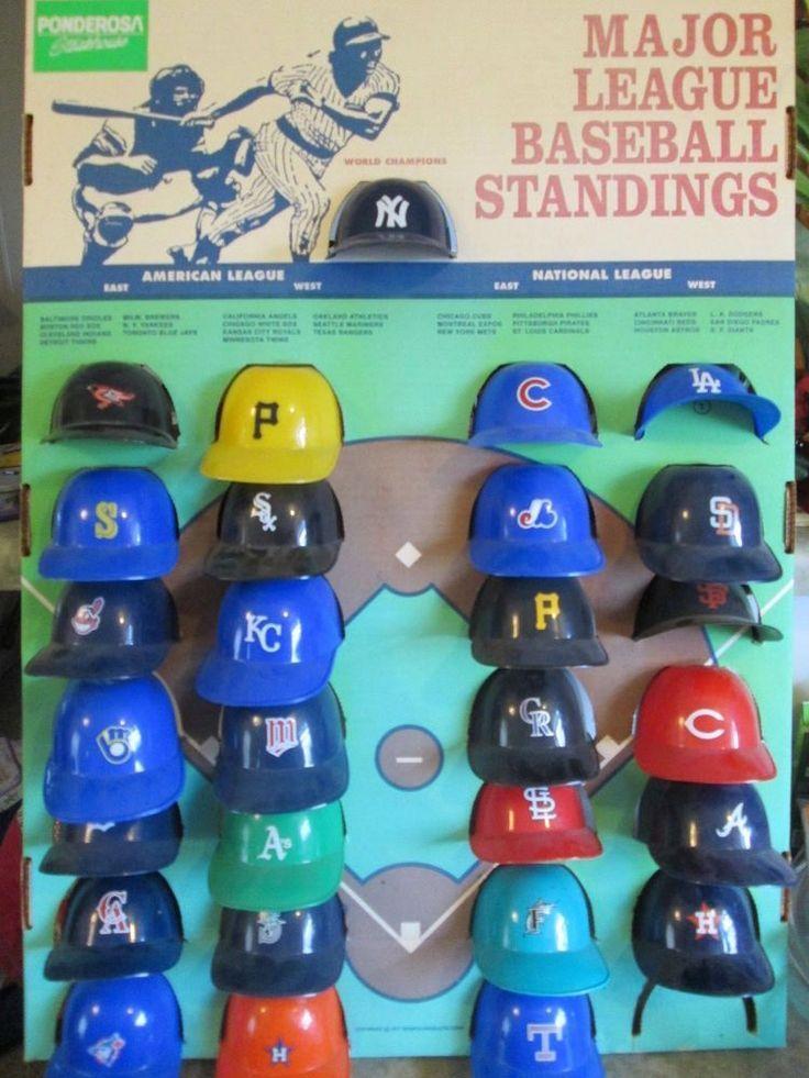 1977 Sports Prod Major League Baseball Mini Helmet Store Display For Ponderosa Major League Baseball Baseball Memorabilia Baseball Helmet