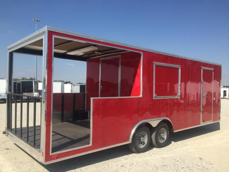 2019 8 5x24 Porch Trailer Vending Concession Trailer