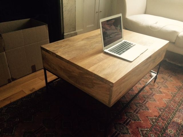 Industrial storage coffee table from west elm in for Coffee tables gumtree