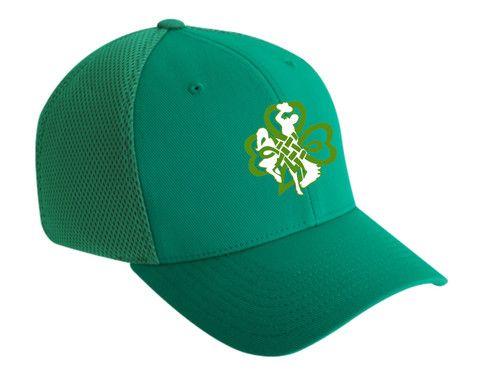 H008 Buckin' Irish Flex Fit Hat - Green | Wyoming Stuff